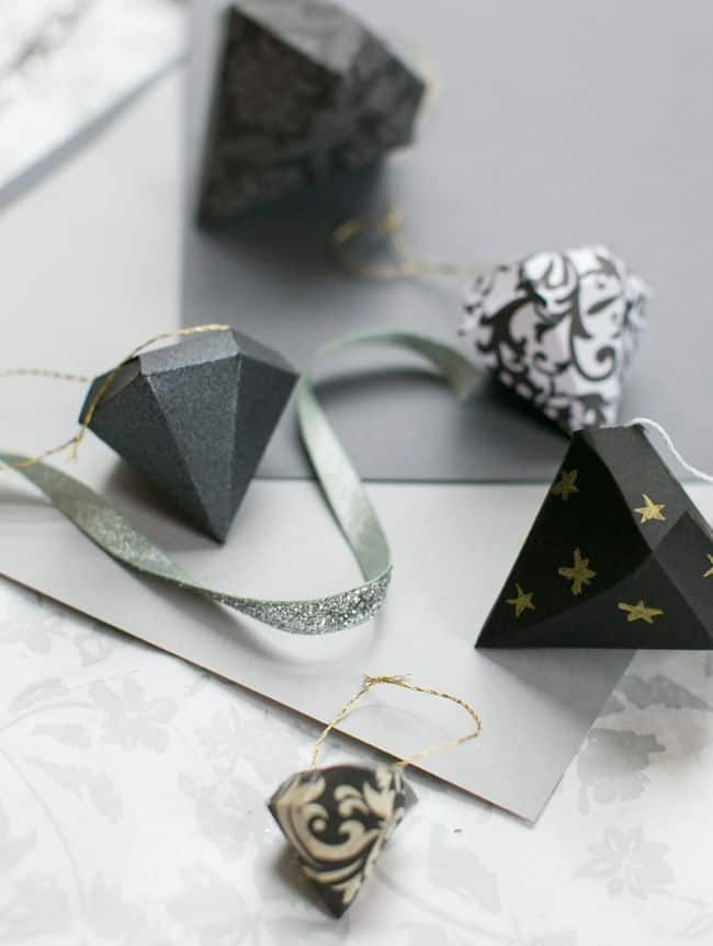 DIY DIamond Ornaments | Hello Glow