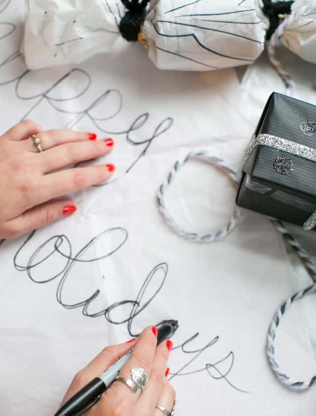 Black and White Wrapping | Hello Glow