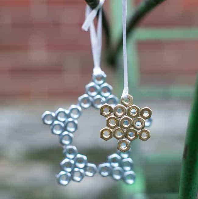 DIY Hardware Ornaments 3 Ways | HelloGlow.co
