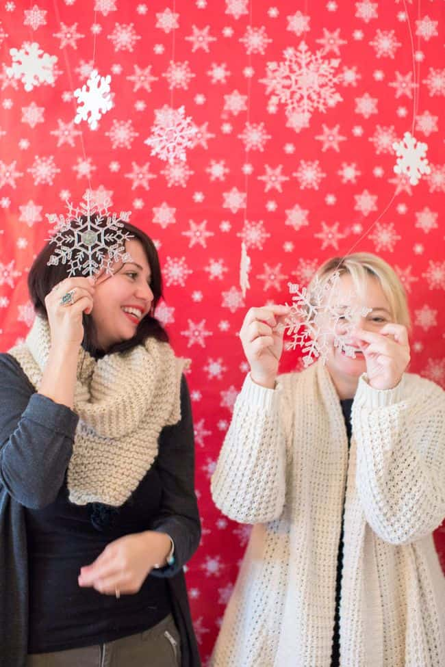 DIY Photobooth with Wrapping Paper