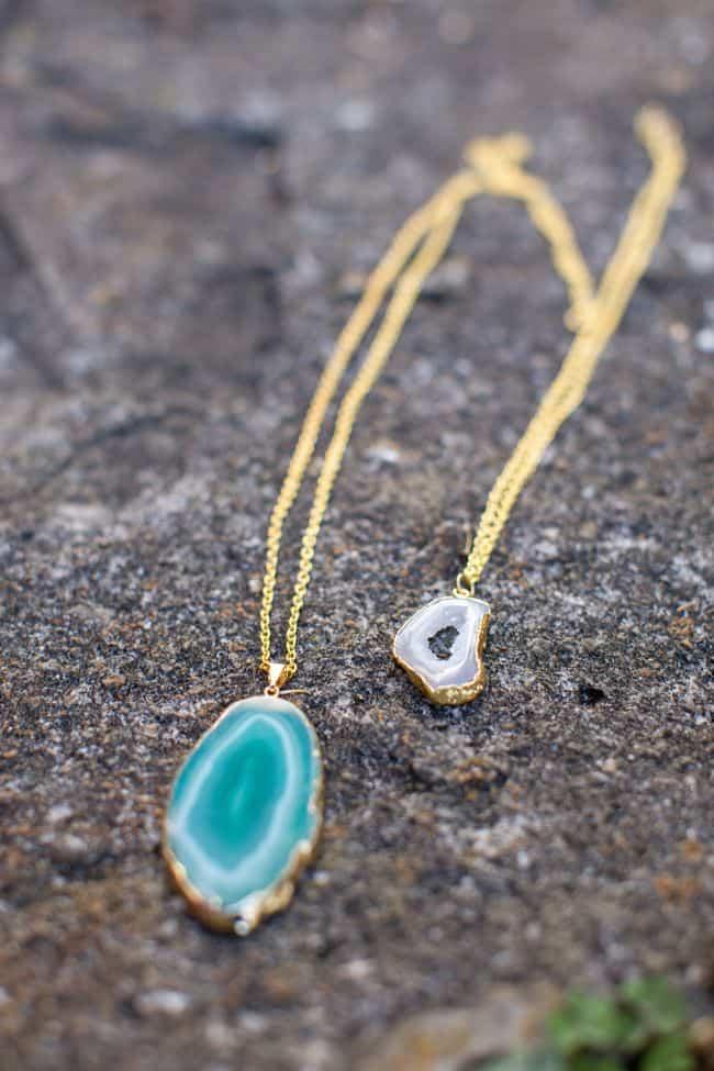 Agate DIY Pendant Necklace | HelloNatural.co