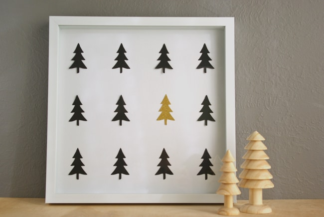 Winter Wall Art winter tree diy wall art | hello glow