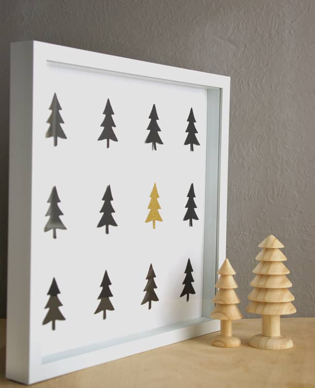 winter tree diy wall art. Black Bedroom Furniture Sets. Home Design Ideas