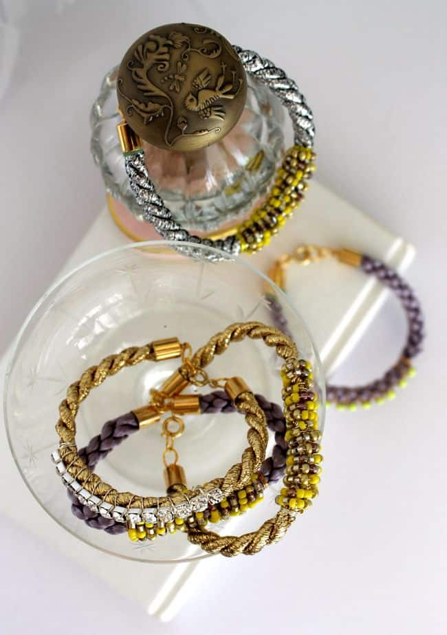 DIY Cord Bead Bracelets