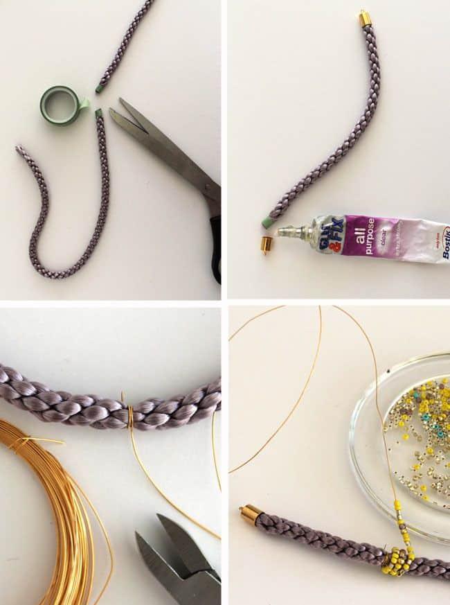 How to Make DIY Cord Bead Bracelets