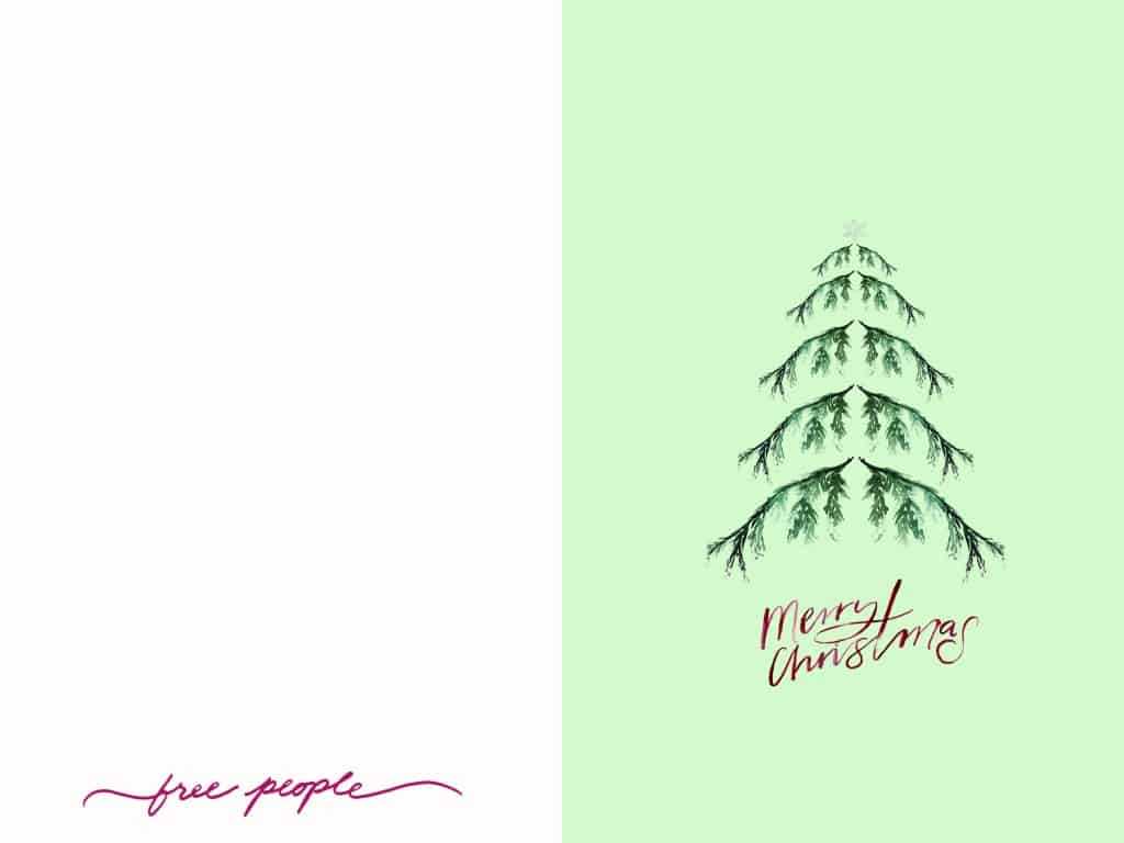 Holiday Card Downloads from Free People | Eco Wrap Ideas