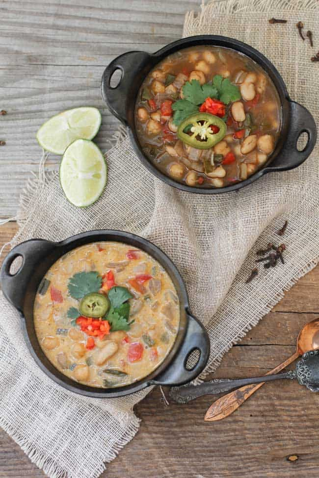 Chickpea and White Bean Chili   HelloGlow.co