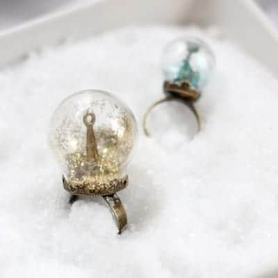Glitter Snow Globe Ring | Henry Happened