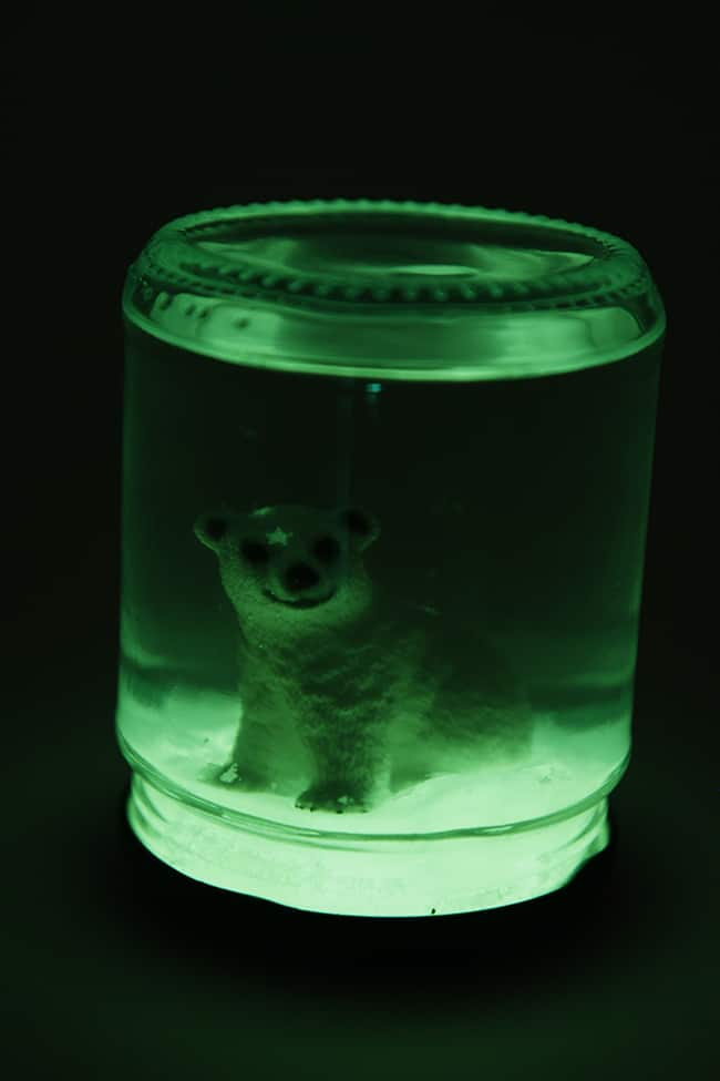 DIY Glow in the Dark Snow Globe | Hello Glow