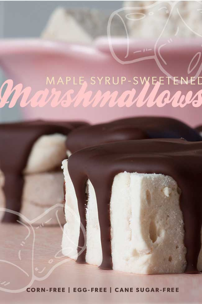 Maple Syrup-Sweetened Marshmallows