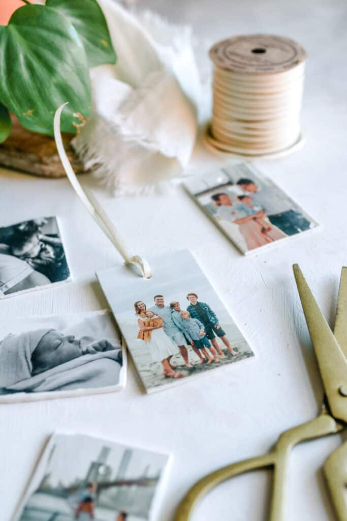DIY Photo Clay Gift Tags