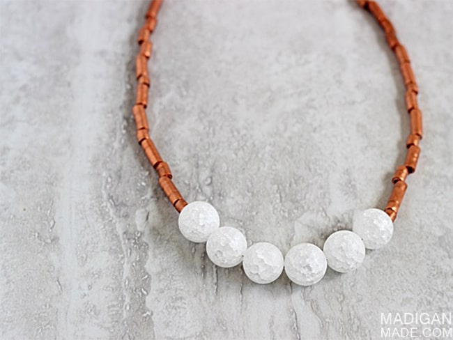 Copper tubing necklace | Henry Happened