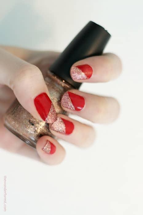 Geometric glitter