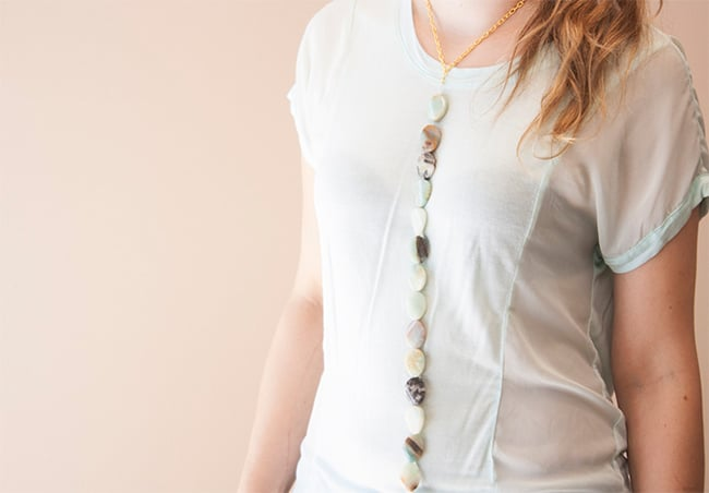 Vertical statement necklace | Hello Glow