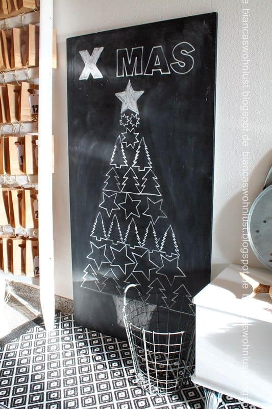 Chalkboard tree