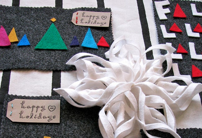 diy holiday card felt