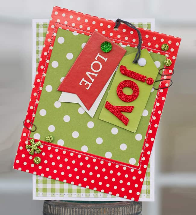 diy holiday cards bright