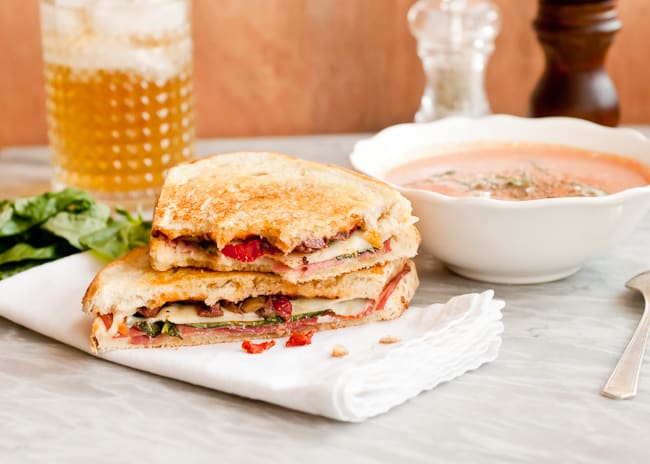 Grilled Cheese Sandwich + Creamy Tomato Soup | HelloNatural.co