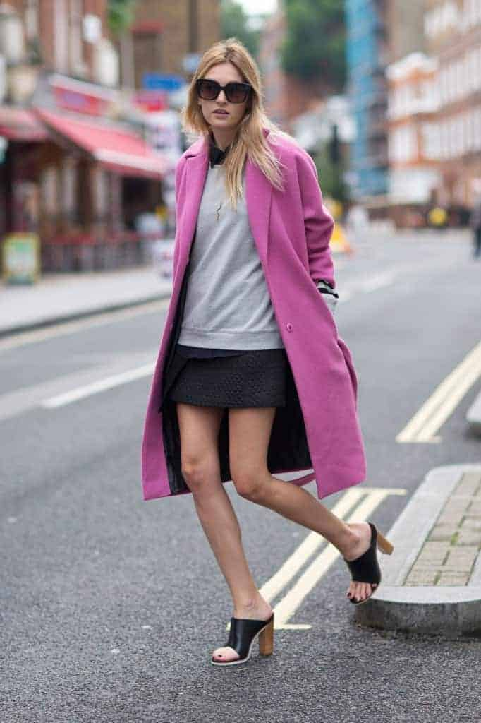 10 ways to wear a bright coat | Hello Glow