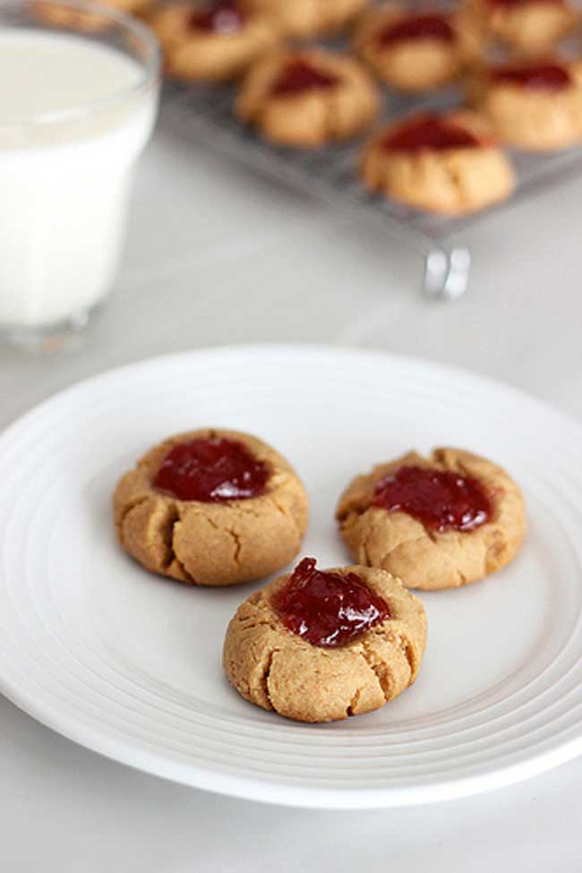 Grain-Free Peanut Butter & Jelly Cookies