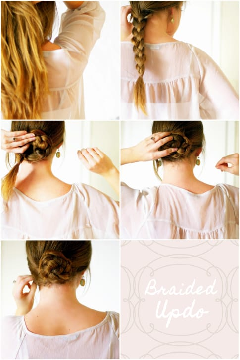 Braided updo by Sugar and Cloth