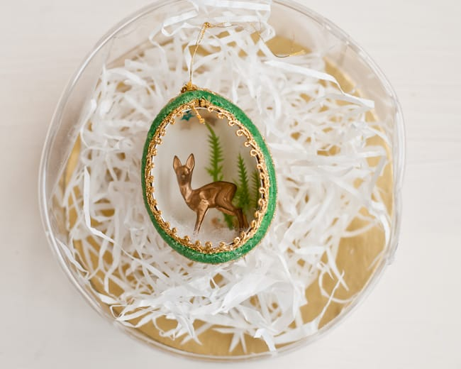 vintage deer ornament - special storage container
