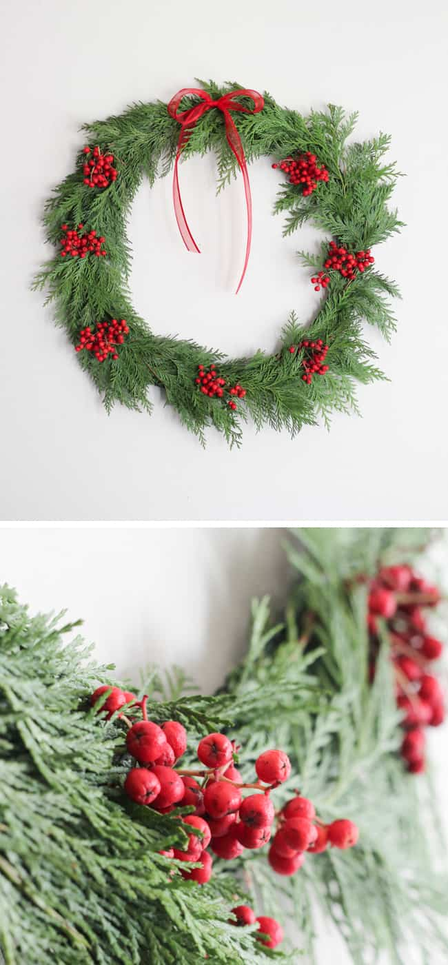 A 20-Minute DIY Holiday Wreath | Hello Glow