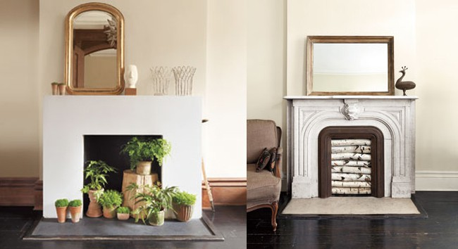 Dress Up an Unused Fireplace (seven great ideas!)