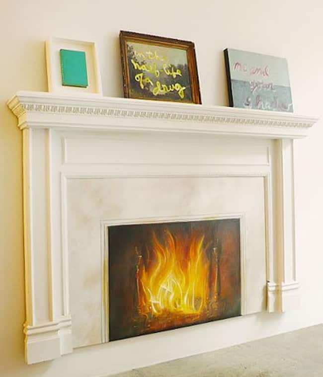 Artistic Solution for Non-Working Fireplaces