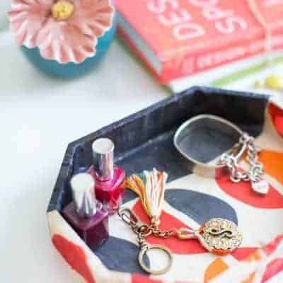DIY Jewelry Tray from Old Scarves