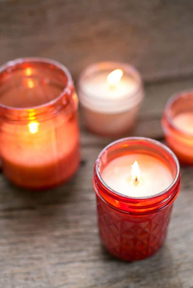 Lilin Pink Mason Jar | Halo Glow