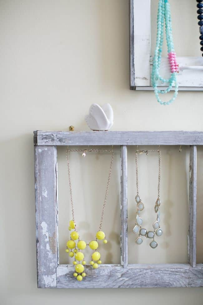 Jewelry Storage Using Old Window | Hello Glow