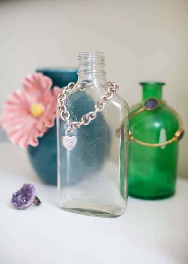 Jewelry Storage with Vintage Bottles | Hello Glow