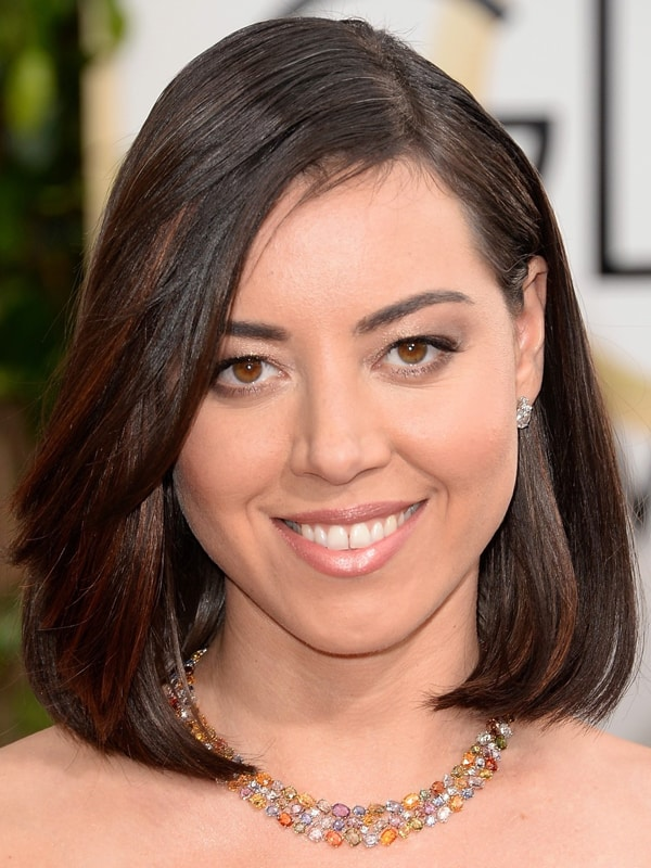 Aubrey Plaza's sleek bob