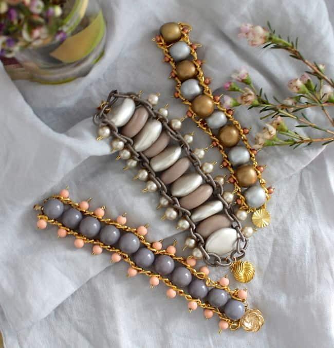 DIY Bead + Chain Bracelet - Henry Happened