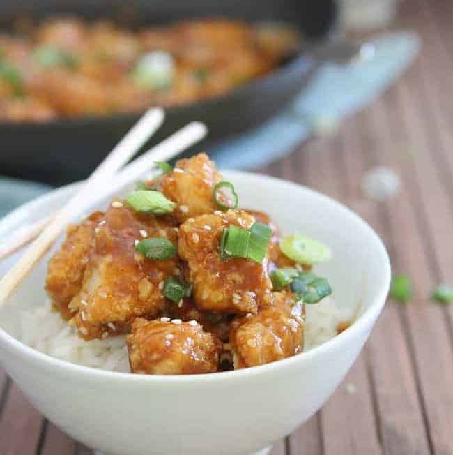 No Fry General Tso's Chicken