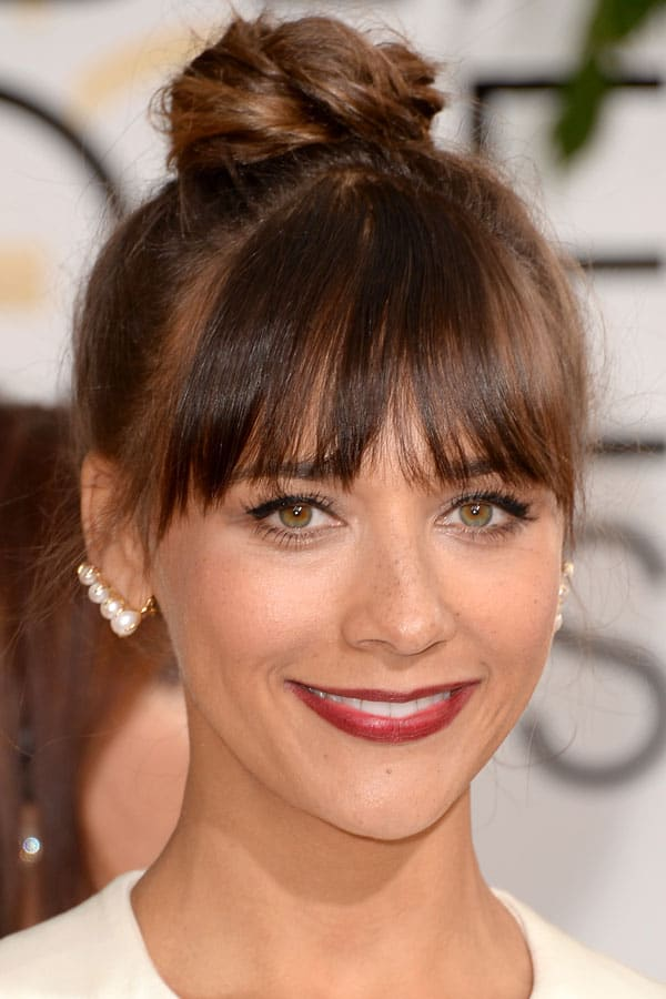 Rashida Jones' top knot