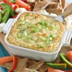 Cheesy, Garlicky Roasted Cauliflower Cheddar Dip Recipe