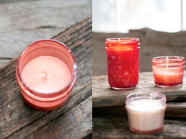 Pink Mason Jar Candles | Hello Glow