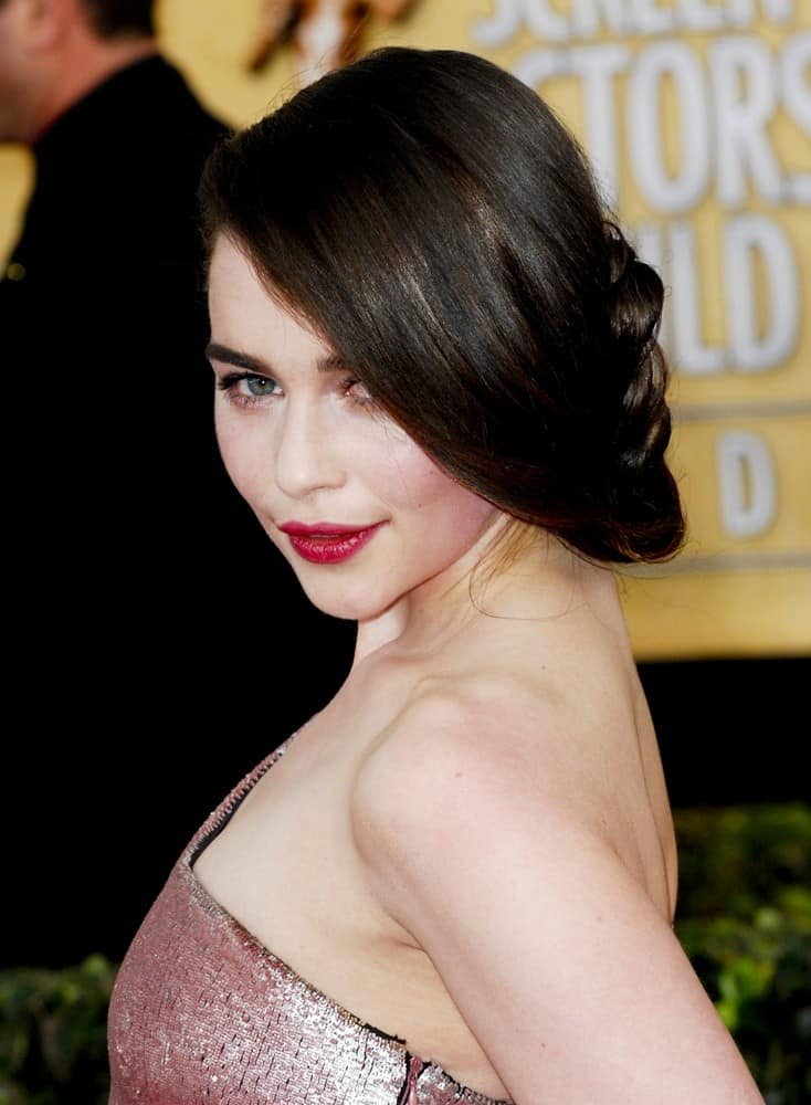 Emilia Clarke's side braid