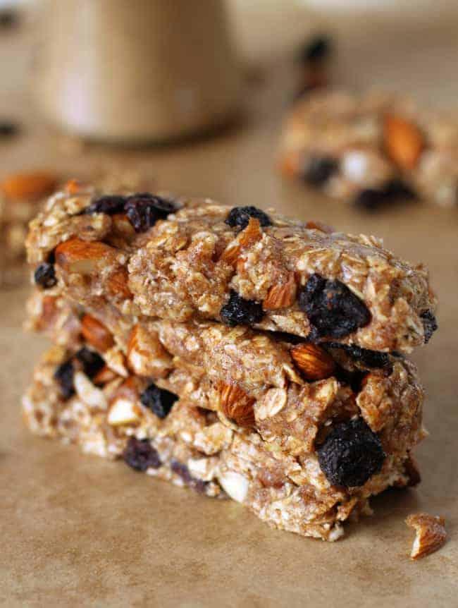 Gluten-Free No Bake Almond Blueberry Granola Bars + How to Make Almond ...