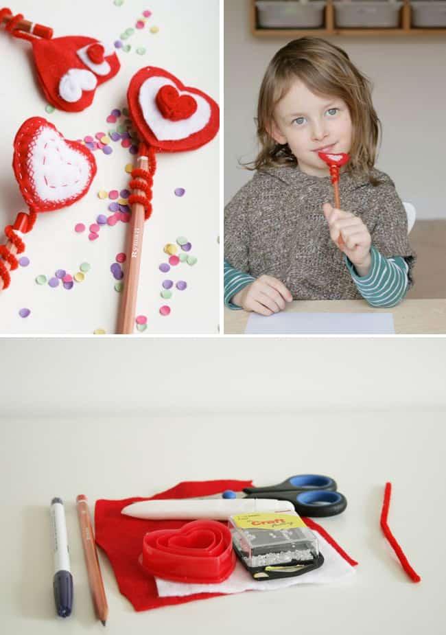 DIY Heart Pencil Topper | Henry Happened