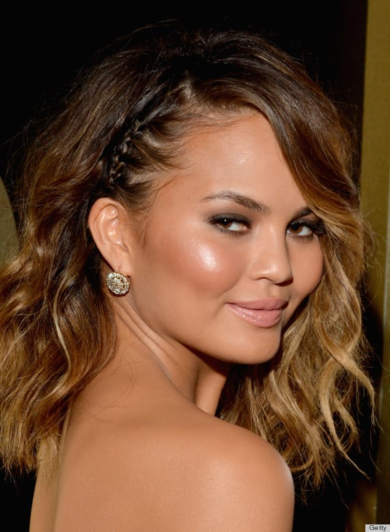Chrissy Teigen's boho braid