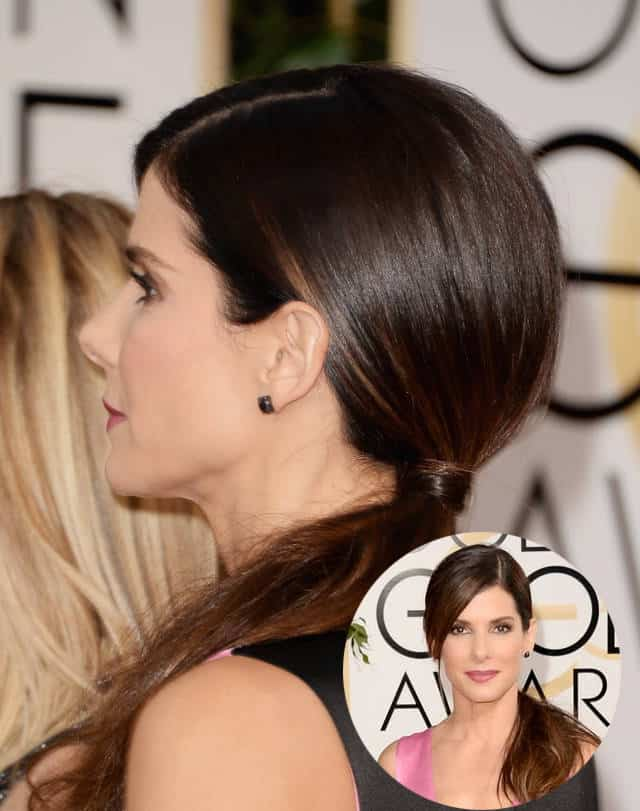 Sandra Bullock's low side pony