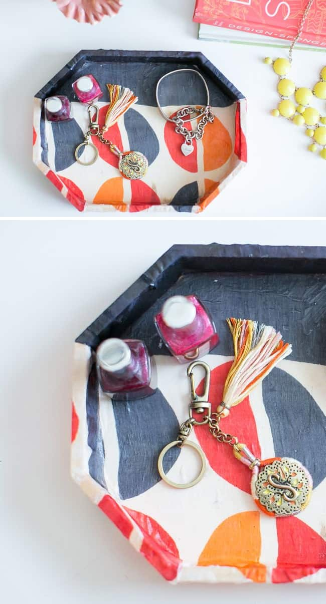 Jewelry Tray from Old Scarf | Henry Happened