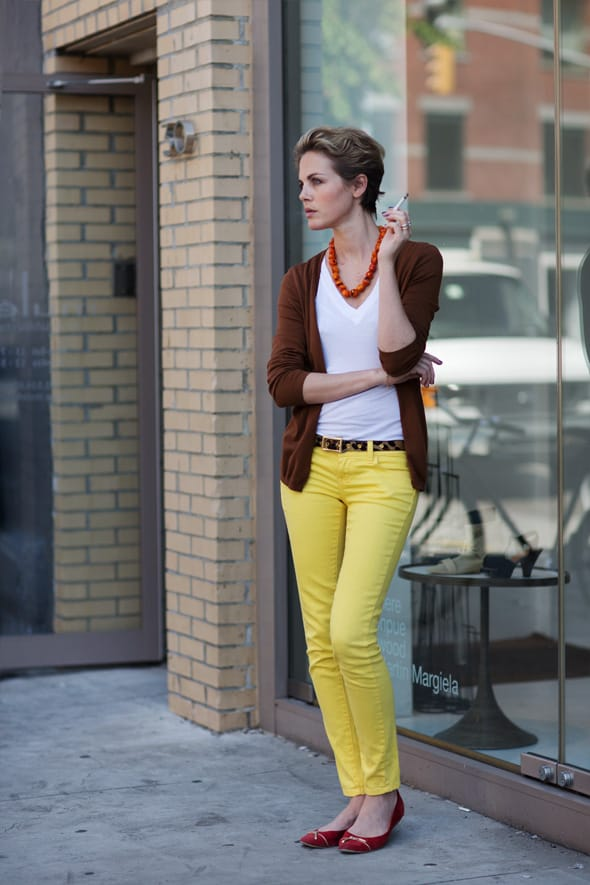 Yellow jeans