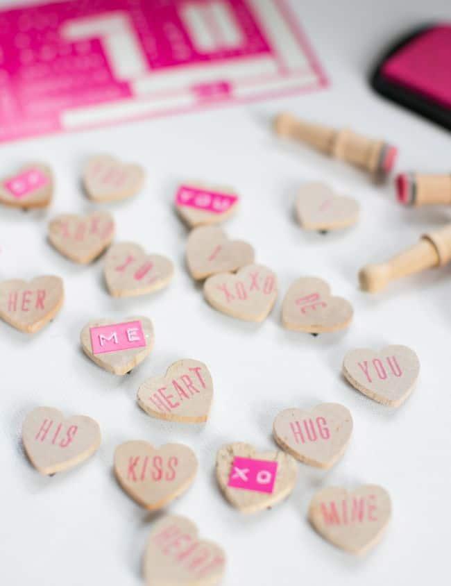 Conversation Heart Magnet Valentines | Hello Glow