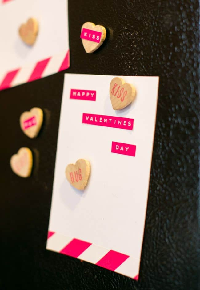 DIY Conversation Heart Magnets | Hello Glow