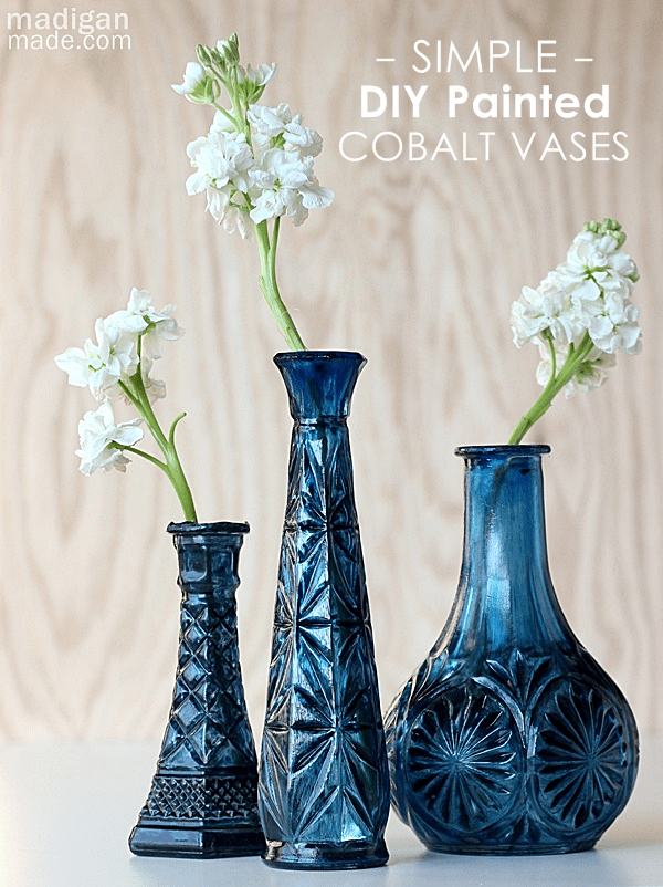 Cobalt Painted Vases