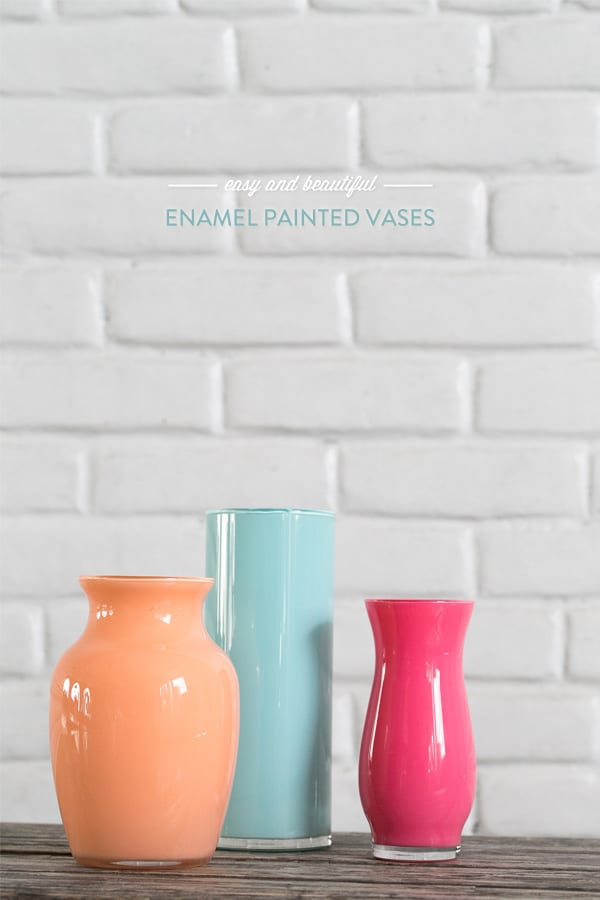 Enamel Painted Vases